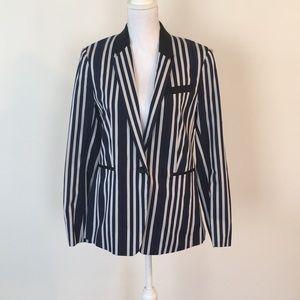 Rag and Bone navy/white Windsor blazer